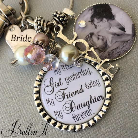 Wedding Gift For Bride Daughter : Gift to bride from mom wedding gift to daughter from mom PHOTO charm ...