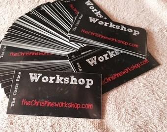 The Chris Pine Workshop  sticker.