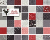EL GALLO by Moda Fabric Charm Pack - Five Inch Quilt Squares Quilting Material Blocks