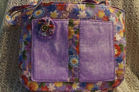 Colorful Floral Medium size Bag or Tote