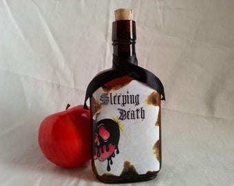 Evil queen Sleeping Death potion bottle poison apple snow white spell apothecary