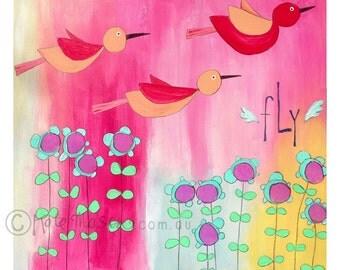 Fly ART PRINT Bird Series