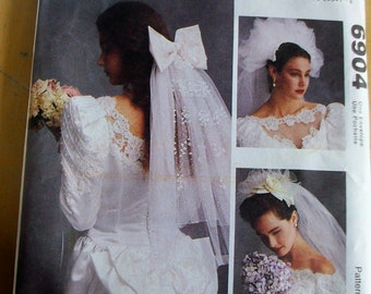 McCalls 6904 wedding veils headpieces  Sewing Pattern