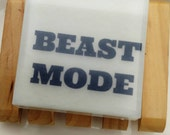 Inspirational Men. Mens Gift. Mens Soap. Soap for Men. BEAST MODE Soap, Fitness Addict. Cardio Workout. BodyPump. Health. Weight Training