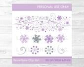 Purple Snowflake Clipart ...