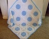 Crochet Baby Blanket, Baby Boy, Ready to Ship