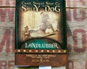 Salty Dog LANDLUBBER Vanilla and Patchouli with ground loofah Mens 5 oz olive oil soap.