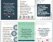 Girl After God...Scripture and encouragement for your mirror (Set 7). Includes 6 designs and suction hook. Start and end your day right.