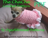 Immediate Download - PDF Crochet Pattern - Cha-Cha Dog Sweater Dress