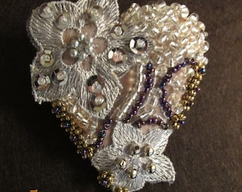 Fabric Embellished Brooch