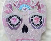Skull Art Mosaic Pique Assiette Skull Series Number 27 OOAK
