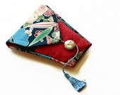 Needle Book Handmade Sewing Kit with Antique Glass Button needlebook