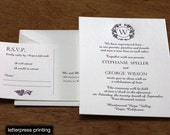 Zinfandel Letterpress or Digital Wedding Invitations - Set of 100