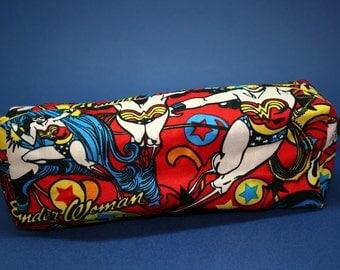 Boxy Makeup Bag - DC Wonder Woman - Zipper Pencil Pouch