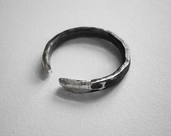 get 50% OFF - 25 dollars only - enter coupon code PHOENIXSALE at checkout to obtain the reduction -GENEVIÈVE ring - sterling silver - unisex