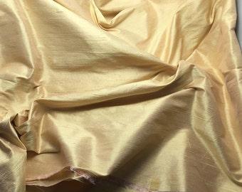 GOLDEN PINK Silk DUPIONI Fabric - fat 1/4