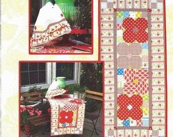 Table Runner Pattern - Flower Power, Hexagon Table Runner Pattern