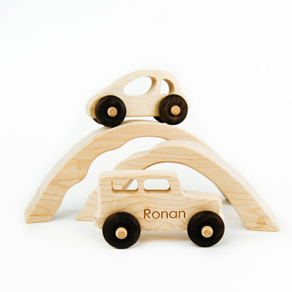 Car and Truck with Bridge Tunnels Toy