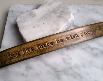 May the force be with you - 3/4 inch wide - Leather Wristband