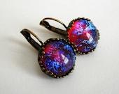 Mexican Opal Fire Opal Dragon' s Breath   Earrings Opal Earrings.