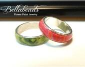 Memorial Ring,Flower Petal Jewelry,Memorial Beads,Men's Memorial Jewelry,Funeral Flower Jewelry,Pet Memorial,Handmade Beads,Bellamy Ring