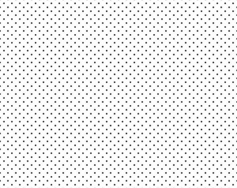 Riley Blake Designs, Swiss Dots Black on White  (C660 110)