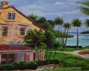 An original painting of  the Deering Estate in Miami Florida