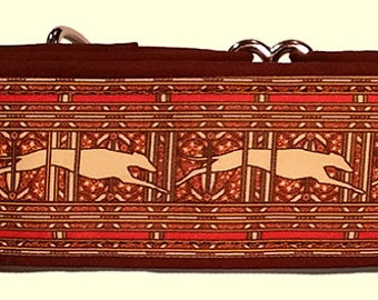 Jane Walker's Paisley Red Stripe Martingale Collar-