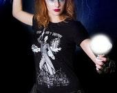 Women's Tesla Glow in the Dark Tee Steampunk Victorian Edwardian New York