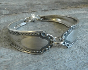 Silver Spoon Bracelet, Viceroy Pattern, Silverware Jewelry