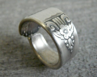 Antique Silver Spoon Ring - Harmony 1938