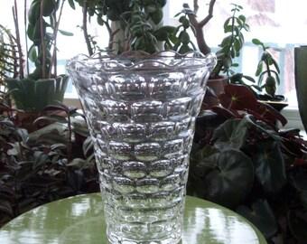 Vintage Pressed Glass Large Vase