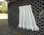 Pair Multi Ruffled Curtains Double Ruffled Drapes Panels Ruffled Window Treatment French Country Cottage Ruffled Linen Curtain Made to Order