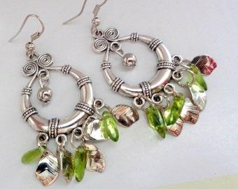 Chandelier Earrings,Antique Silver Earrings