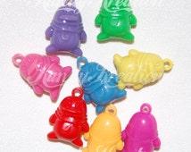 10 Penguin Charm pendants for kandi raves kids bubblegum necklaces gumball bottle cap jewelry supplies 32mm big