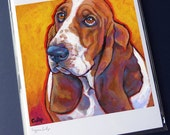 BASSET HOUND Dog 8x10 Signed Art Print from Painting by Lynn Culp