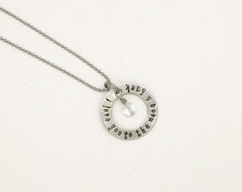 Personalized Silver Necklace - Mother Necklace - Mothers Day - Medium Eternity Necklace