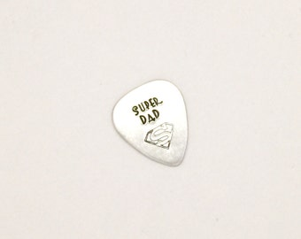 Personalized Guitar Pick - Token - Keepsake - Fathers Day - Aluminum - New Dad Gift