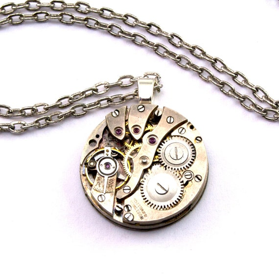 Steampunk Necklace - A Vintage Watch Movement Treasure - PROMPTLY SHIPPED -  Steampunk Jewellery  By London Particulars