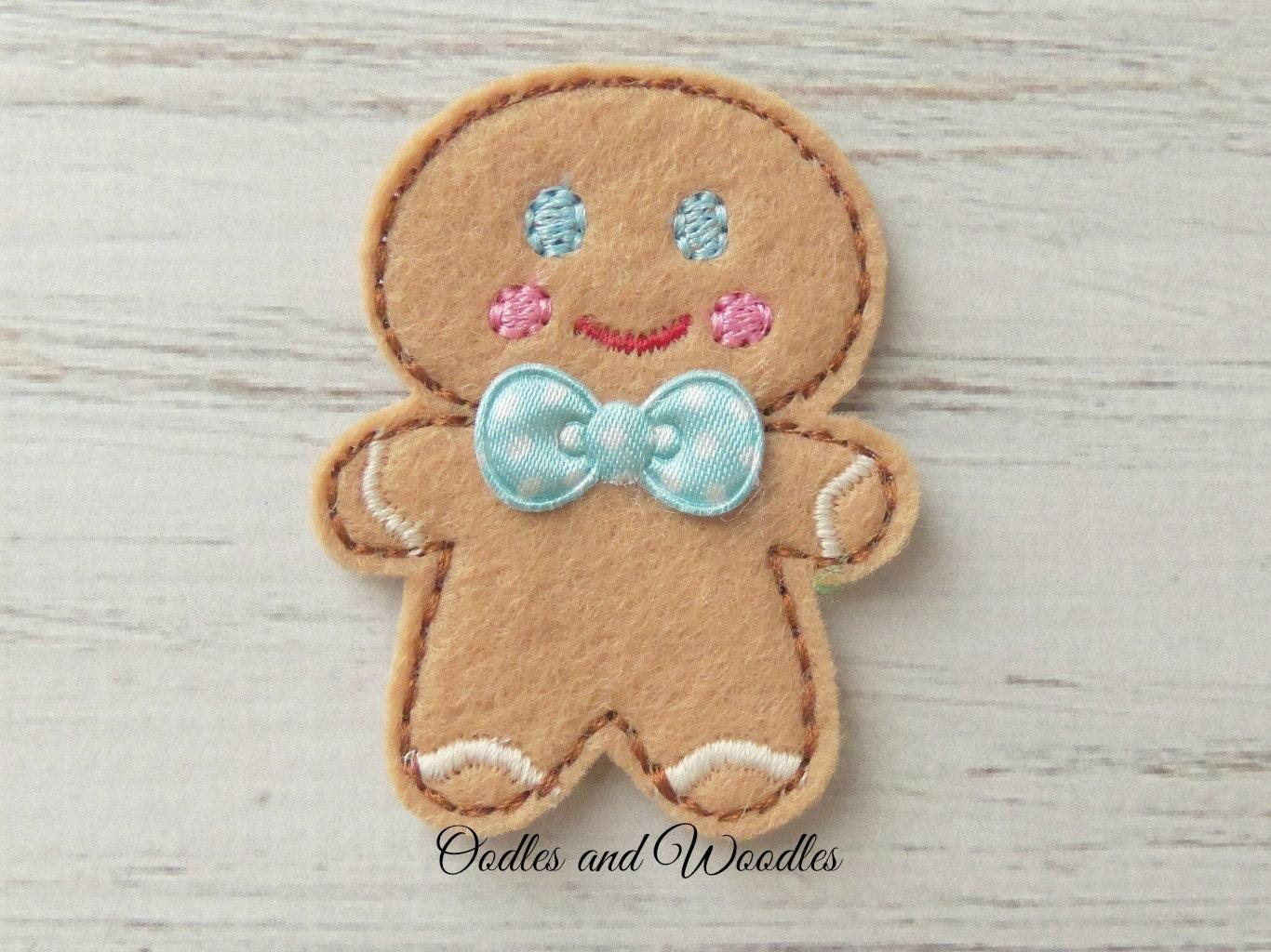 felt gingerbread appliques gingerbread appliques embroidered. Black Bedroom Furniture Sets. Home Design Ideas