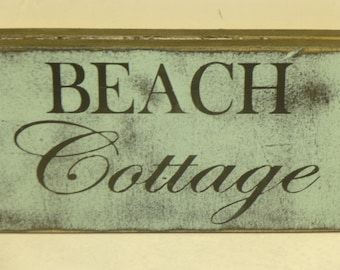 BEACH COTTAGE SIGN / beach cottage decor / beach house sign / beach decor / beach cottage decor / hand painted sign / seaside cottage /beach