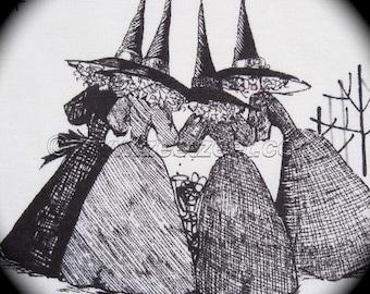 GHASTLIES Light Tea CREAM Alexander Henry Halloween Cotton Quilt Fabric by the Yard Ghastly