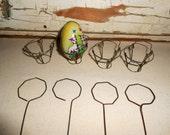 Vintage Wire Easter Egg Dippers, Vintage Easter Egg Wire Baskets