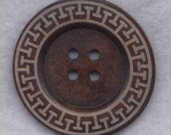 Rusty Brown Wood Buttons BIG Wooden Buttons 60mm (2 3/8 inch) Set of 2/BT508