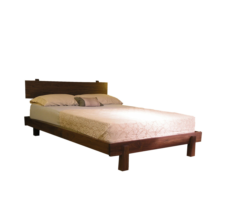 Enso platform bed modern rustic asian twin full by tyfinefurniture - Japanese platform bed frames ...