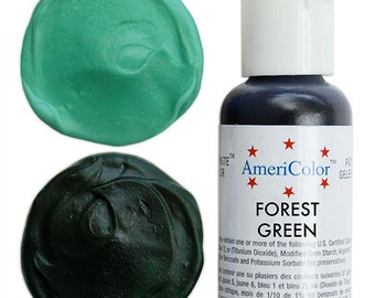 Americolor Forest Green Gel Paste Food Color - high quality food coloring for icing, frosting, cookie dough and more