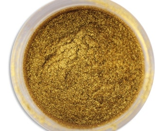 Spansish Gold Luster Dust - dust for adding high luster sheen to gum paste, fondant, cakes, cupcakes, cookies, and cakepops