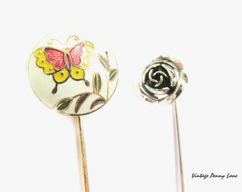 Vintage Stick Pins, Stickpin Lot of 2