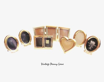 Brass Picture Frames, Vintage Miniature Lot