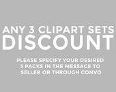 Any three clipart sets